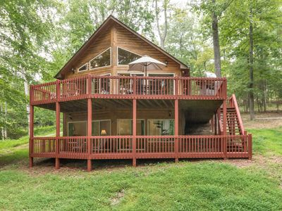 Photo for Cabin including Boat Slip/Stone Fire Pit/FREE Wifi/Roku in Golf Course Community