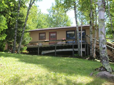 Photo for Two bedroom summerhome northeast of Ely with private dock and views of the BWCA