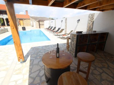 Photo for Charming Dalmatian villa with private pool and covered terrace,nice tavern, BBQ