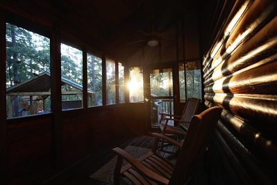 The amazing screened porch!