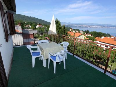 Photo for One bedroom apartment with terrace and sea view Oprič, Opatija (A-7718-a)