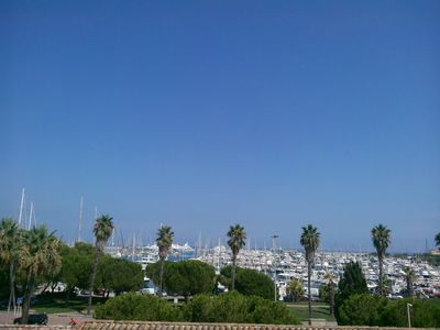 Photo for BEAUTIFUL STUDIO WITH TERRACE WITH SUPERB SEA VIEW AND YACHTS
