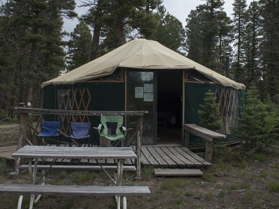 Photo for Midway Hike-in Camping Yurt