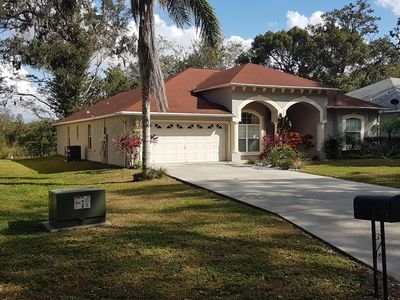 Photo for Outstanding  luxury pool home, close shops/restaurants , 12 minutes to Parks/ attracti