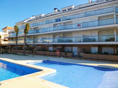 Photo for Stylish Apartment with pool, 400m from sandy beach, close to Denia town