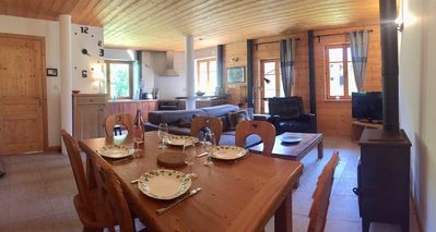 Photo for Charming apartment, spacious in renovated farmhouse, 65m2, 2 bedrooms, Portes de Soleil
