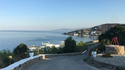 Photo for Panoramic view apartment for 2 people near Ornos beach
