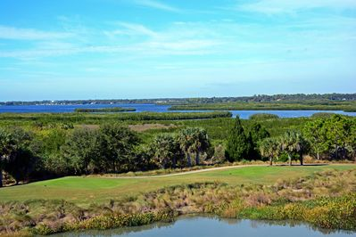Condo view of Manatee River, Golf Course and Lake