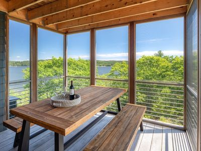 Photo for Three bedrooms accommodating 6 overlooking the Kennebec River!