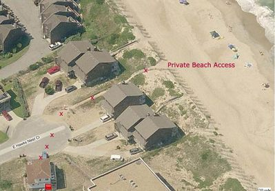 Private Beach Access just 73 feet from the house.