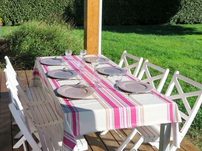 Photo for Vacation home Les Alouettes (AZU110) in Azur - 8 persons, 4 bedrooms