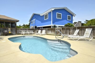 Private pool with picnic table; large hot tub in gazebo