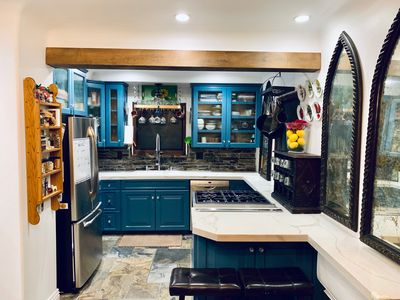 Updated kitchen with Thermadore and Bosch Appliances.