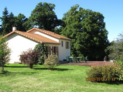Photo for Country house, large garden, calm and nature, near Limoges, lakes ...
