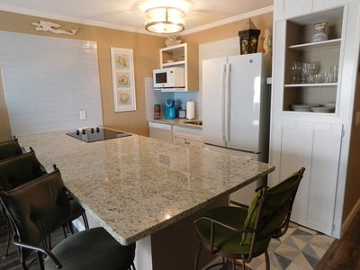 Plenty of counter space for eating, working or doing a crossword puzzle!