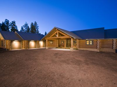Photo for Private Luxury Log Cabin At The Gateway To The Grand Canyon Secluded 11 Acres!!