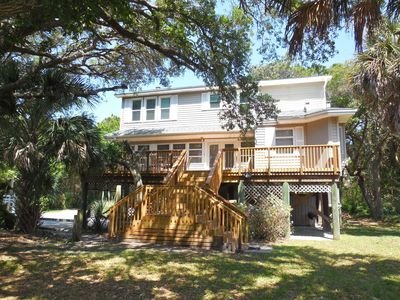 Photo for Tree House - Nicely Furnished Home Across from Beach
