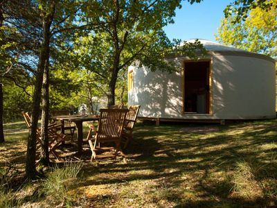 Photo for Comfortable wooden yurt 2-heated swimming pool