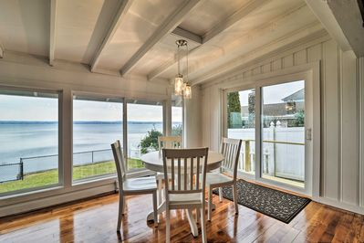 Soak in views of the Sakonnet River while you relax in this upscale cozy home!