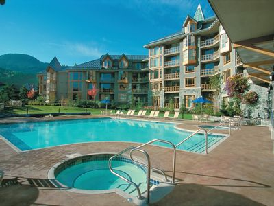 Photo for Whistler Cascade Lodge Resort Condo, Walk or Shuttle to lifts Year round Pool!