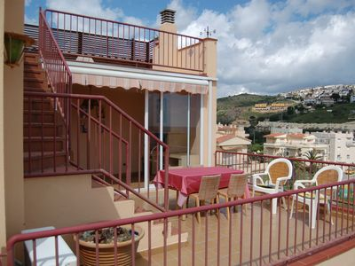 Photo for Bright top-floor apartment with large terraces, located just 100 meters away from Grifeu B