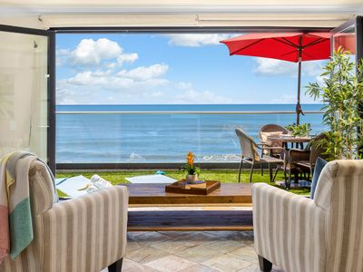 Photo for Oceanfront unit with 8br/ 8ba, rooftop decks, private spa, A/C Equipped