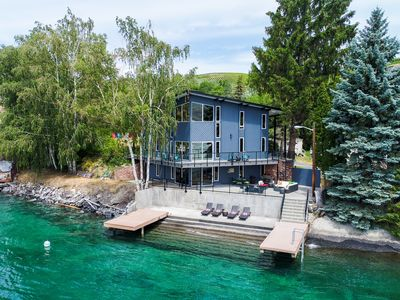 Photo for Waterfront @ Rocky Point Lodge w/ an infinity point of view & hot tub - Dogs OK!