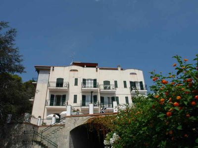 Photo for Swimmingpool 600 metres from the beach One roomed apartment Balcony with sea view