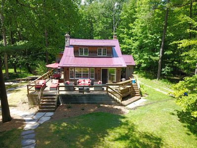 Photo for Newly Listed & Remodeled! Luxury, Rustic Cabin on Shores Of Lake Michigan