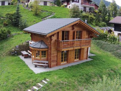 Photo for A new chalet, on the edge of La Tzoumaz