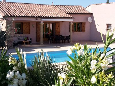 Photo for Luxurious holiday home with heated private swimming pool and boules court