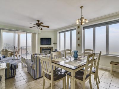 Photo for Ocean & Boardwalk Views! Spacious Condo w/ Wi-Fi, Pool, Sauna, Gym & More!