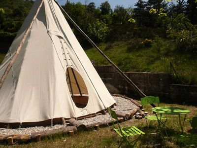 Photo for Camping du Lac *** - Tipi 1 Room 2/4 People