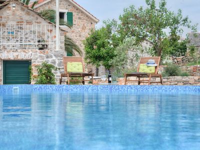 Photo for NEW renovated stone house-authentic spirit of Dalmatia+pool, 2 CARS incl!