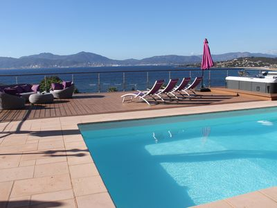 Photo for luxury villa stunning views of the Gulf of Ajaccio, 50 meters from sea