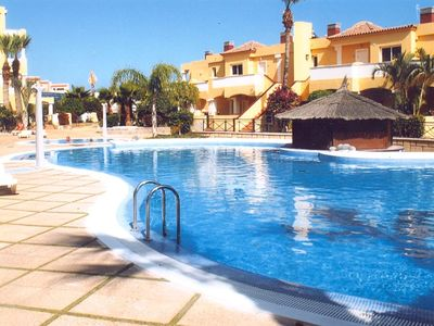 Photo for Lovely, spacious apartment with sea view.  Heated pool and children's pool.