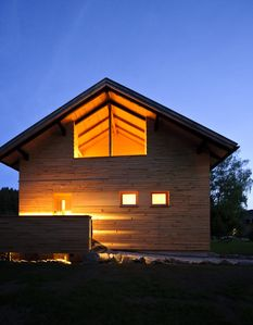 Photo for Modern wooden house architecture, the heart of the Bavarian Forest, four people
