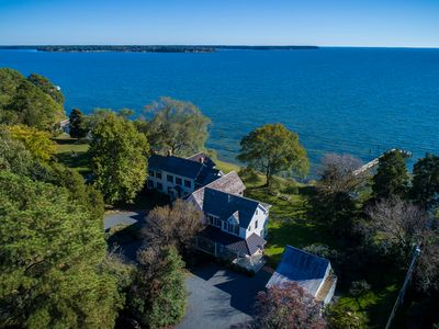Photo for Waterfront Estate w/Pool, Dock, Sunset views near St. Michaels, sleeps 12+