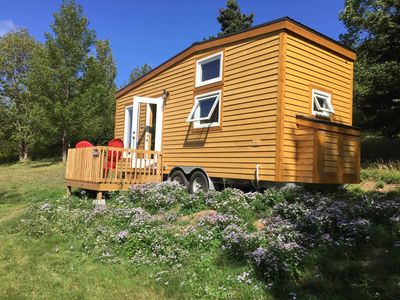 Photo for Tiny House with waterfall and private beach 7km from Inverness, Cape Breton Island