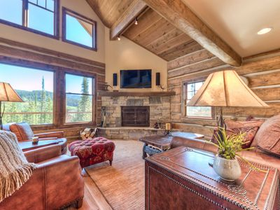 Photo for Log Cabin With Wrap Around Deck & Private Hot Tub, Perfect For Your Vacation!