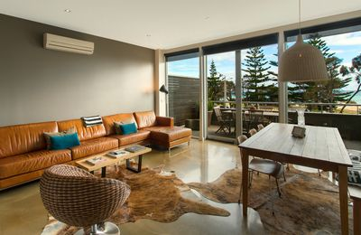 Photo for Beach views from this stunning family apartment.