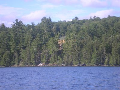 Private cabin on 16 acea and 815 feet of water frontage. Very private.
