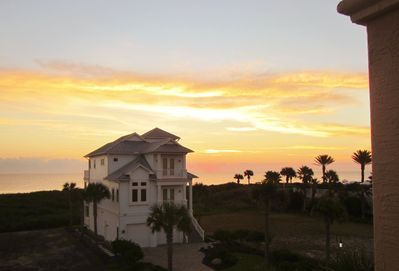 Sunrise from the 3rd floor balcony of Oliver's Hideaway.