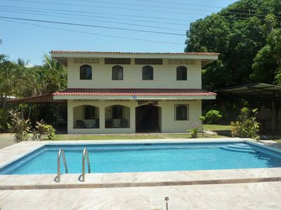 Photo for Beachfront Spanish style home perfect for large families or groups of friends.