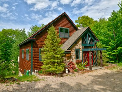 Photo for Perfect NH House, Beautiful Kitchen, Large Deck, Fire Pit, Private Wooded Lot