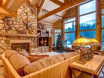 Photo for Ski Lynx Lodge: Custom Log Home On 3 Acres With Hot Tub, Pool Table, Foosball