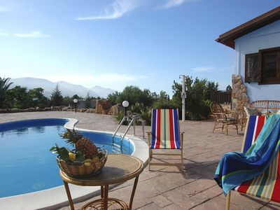 Photo for 2 bedroom Villa, sleeps 5 with Pool, Air Con, WiFi and Walk to Shops