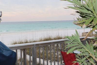 Cottage Deck View of the the beautiful Gulf Coast