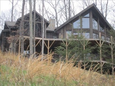 Photo for Along Mountain Views. Spectacular Great Smokies Log Home