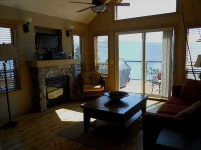 Living Room with View to Deck